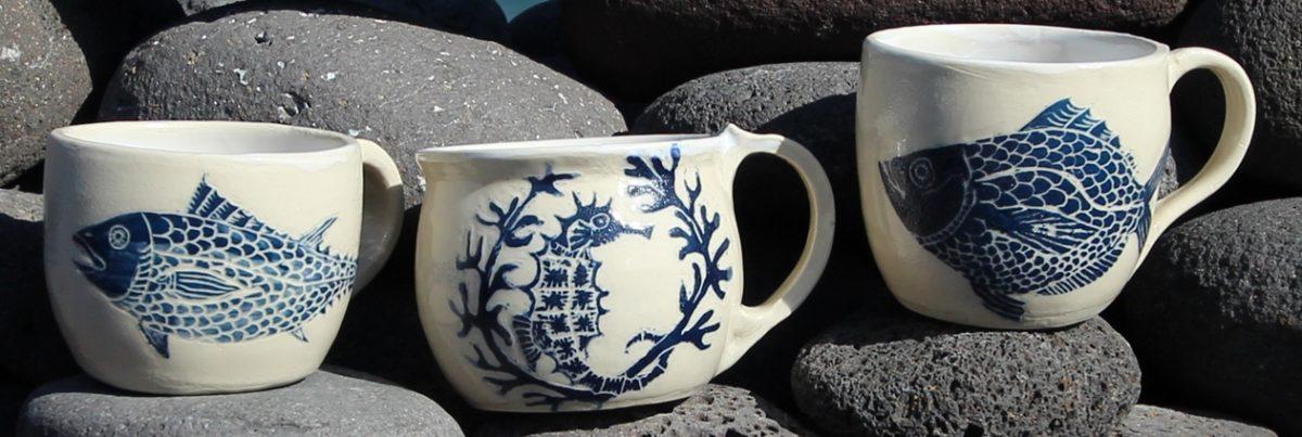 Nature and wildlife inspired ceramics by Mirjam Rücke