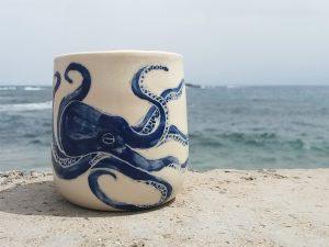 Octopus Becher